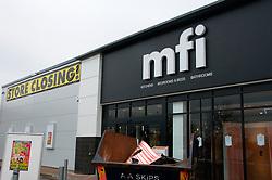 MFI closed; on retail park off Oxford Road; Reading Berks Dec 2008