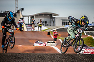 #32 (CRAIN Brooke) USA [Haro, Rockstar] at Round 7 of the 2019 UCI BMX Supercross World Cup in Rock Hill, USA