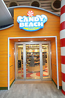 The launch of Royal Caribbean International's Oasis of the Seas, the worlds largest cruise ship..Candy Beach, shop on the board walk.