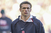 Twickenham. Surrey, UK., 16th February 2002, Six Nations International Rugby,  RFU Stadium, England vs Ireland,  [Mandatory Credit: Peter Spurrier/Intersport Images],<br /> <br /> The Lloyds TSB Six Nations Championship<br /> England v Ireland<br /> RFU - Twickenham<br /> 16/02/2002<br /> England and Hrlequins scrum half Nick Duncombe<br /> <br /> <br /> <br />  <br /> <br /> <br /> <br /> <br /> <br /> <br /> <br /> <br /> <br /> <br /> Salesi Finau