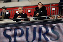25 October 2017 -  Carabao Cup (4th Round) - Tottenham Hotspur v West Ham United - West Ham co owner David Sullivan alongside his son Jack - Photo: Marc Atkins/Offside