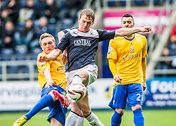 Cowdenbeath's Dean Brett and Falkirk's Stephen Kingsley.<br /> Falkirk 5 v 0 Cowdenbeath, Scottish Championship game played today at The Falkirk Stadium.<br /> © Michael Schofield.