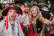 A bunch of friends from London come as Pirates - The 2016 Glastonbury Festival, Worthy Farm, Glastonbury.