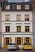 Odrestaurowana kamienica na ulicy Szerokiej w Krakowie.<br /> Restored tenement house on Szeroka Street in Krakow.