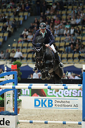 Muff Werner, (SUI), Pollendr<br /> DKB-Riders Tour<br /> Grand Prix Kreditbank Jumping München 2015<br /> © Hippo Foto - Stefan Lafrentz