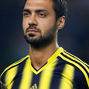 Fenerbahce's Bekir Irtegun during the UEFA Champions League Play-Offs First leg soccer match Fenerbahce between Arsenal at Sukru Saracaoglu stadium in Istanbul Turkey on Wednesday 21 August 2013. Photo by Aykut AKICI/TURKPIX
