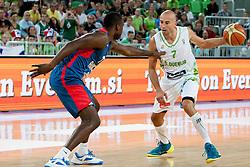 Nebojsa Joksimovic of Slovenia during last friendly match before Eurobasket 2013 between National teams of Slovenia and France on August 31, 2013 in SRC Stozice, Ljubljana, Slovenia. (Photo by Urban Urbanc / Sportida.com)