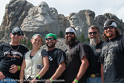 East Coast riders at Mt Rushmore National Monument during the 75th Annual Sturgis Black Hills Motorcycle Rally.  SD, USA.  August 8, 2015.  Photography ©2015 Michael Lichter.