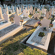 MOSTAR, BOSNIA AND HERZEGOVINA - JUNE 28:  A general view of one of the many cemeteries for the victims of the 1993 siege seen on June 28, 2013 in Mostar, Bosnia and Herzegovina. The Siege of Mostar reached its peak and more cruent time during 1993. Initially, it involved the Croatian Defence Council (HVO) and the 4th Corps of the ARBiH fighting against the Yugoslav People's Army (JNA) later Croats and Muslim Bosnian began to fight amongst each other, it ended with Bosnia and Herzegovina declaring independence from Yugoslavia.  (Photo by Marco Secchi/Getty Images)