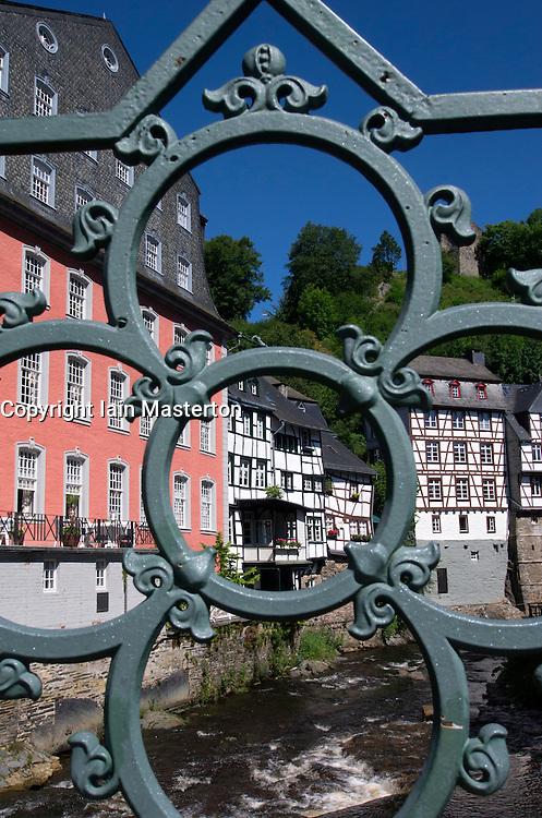 Historic village of Monschau in Eifel Region  Germany