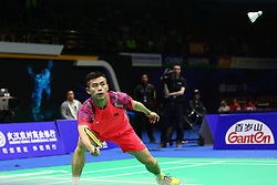 April 25, 2018 - Wuhan, Wuhan, China - Wuhan, CHINA-25th April 2018: Malaysian badminton player Lee Chong Wei defeats Chinese badminton player Qiao Bin 2-0 at 2018 Badminton Asia Championships in Wuhan, central China's Hubei Province, April 25th, 2018. (Credit Image: © SIPA Asia via ZUMA Wire)