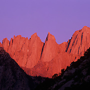Mt. Whitney is the highest mountain in the contiguous 48 states at 14,496 feet in Sequoia National Park, CA.