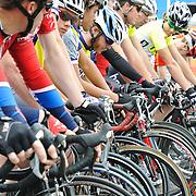 Riders at the starting line, 2011 UA Criterium bicycle race, Tucson, Arizona. Bike-tography by Martha Retallick.