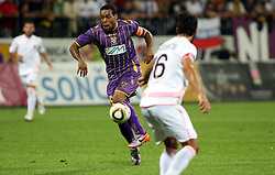 Marcos Magno Morales Tavares of Maribor during the UEFA Europa League play-offs second leg match between NK Maribor and US Citta di Palermo at Ljudski vrt Stadium on August 26, 2010 in Maribor, Slovenia. Maribor defeated Palermo 3-2 but Palermo won in total 5-3 and qualified for Europa league. (Photo by Marjan Kelner / Sportida)