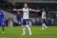 Tottenham Hotspur forward Harry Kane (10) appeals during the EFL Cup Fourth Round match between Tottenham Hotspur and Chelsea at Tottenham Hotspur Stadium, London, United Kingdom on 29 September 2020.