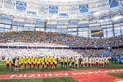 June 18, 2018 - Nizhny Novgorod, Russia - Back row from left; Pontus Jansson, Andreas Granqvist, Marcus Berg, Albin Ekdal, Ola Toivonen, Robin Olsen, front row Mikael Lustig, Ludwig Augustinsson, Viktor Claesson, , Emil Forsberg, Sebastian Larsson..2018 FIFA World CUP, Sweden - South Korea, 1-0, Nizhny Novgorod Stadium, Russia, 2018-06-18..(c) ORRE PONTUS  / Aftonbladet / IBL BildbyrÃ¥....* * * EXPRESSEN OUT * * *....AFTONBLADET / 85527 *** Local Caption  (Credit Image: © Orre Pontus/Aftonbladet/IBL via ZUMA Wire)