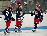 Varsity hockey Laconia-Winnisquam versus  Moultonboro-Interlakes at the Laconia Ice Arena.  Karen Bobotas/for the Laconia Daily Sun