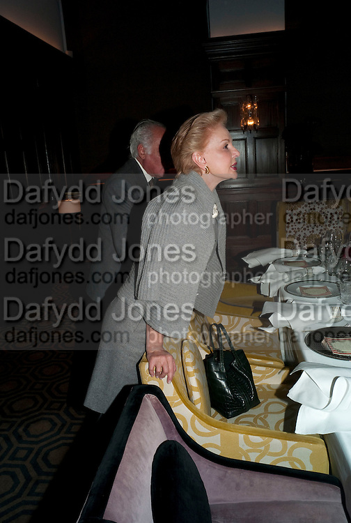 CAROLINA HERRERA;, Graydon and Anna Carter host a lunch for Carolina Herrera to celebrate the ipening of her new shop on Mount St. .The Connaught. London. 20 January 2010