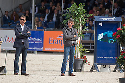 Jury: Kersten Pieter (NED), Holger Hetzel (GER)<br /> 4 Jarige Finale Springen<br /> KWPN Paardendagen - Ermelo 2014<br /> © Dirk Caremans