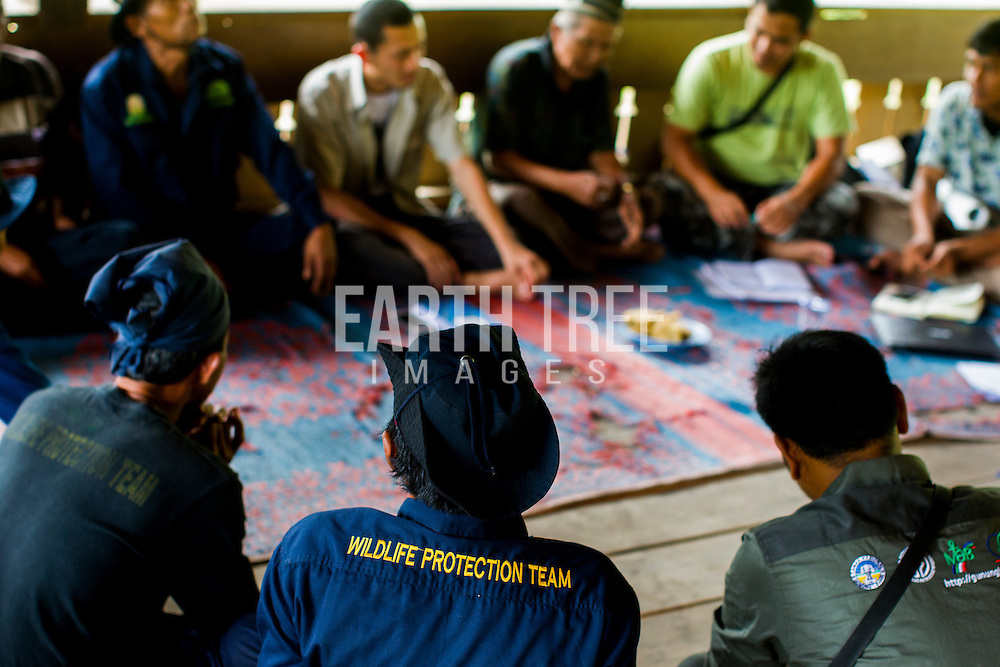Rudi Putra, award winnning conservationist and biologist pictured training teams of FKL rangers in the Leuser Ecosystem, Sumatra, Indonesia. Photo: Paul Hilton