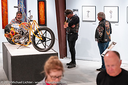 Jesse Rooke's RookeStar 01 S&S custom posthumously included in the What's the Skinny Exhibition (2019 iteration of the Motorcycles as Art annual series) at the Sturgis Buffalo Chip during the Sturgis Black Hills Motorcycle Rally. SD, USA. Thursday, August 8, 2019. Photography ©2019 Michael Lichter.