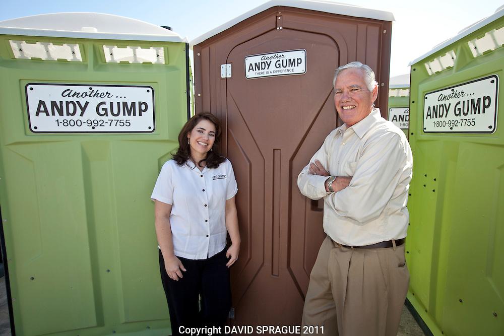 Nancy and Barry Gump of Andy Gump in Santa Clarita, CA. September 12,  2011. Photo by David Sprague