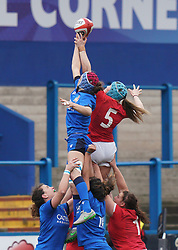 February 2, 2020, Cardiff, United Kingdom: Gwen Crabb (5) seen in action during the women's Six Nations Rugby between wales and Italy at Cardiff Arms Park in Cardiff. (Credit Image: © Graham Glendinning/SOPA Images via ZUMA Wire)