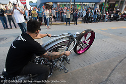 Main Street during Daytona Beach Bike Week 2015. FL, USA. March 13, 2015.  Photography ©2015 Michael Lichter.