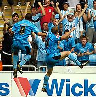 Photo: Ed Godden.<br /> Coventry City v Sunderland. Coca Cola Championship. 06/08/2006. Gary McSheffrey (R) celebrates scoring the winning goal for Coventry.