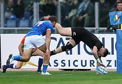 November 24, 2018 - Rome, Italy - Italy v New Zealand All Blacks - Rugby Cattolica Test Match.New Zealands TJ Perenara at Olimpico Stadium in Rome, Italy on November 24, 2018. (Credit Image: © Matteo Ciambelli/NurPhoto via ZUMA Press)