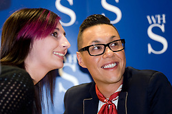 """Gok Wan Signs Copies of his autobiography """"Through Thick and Thin"""" and poses for photos with fans at WH Smiths Meadowhall Sheffield  20th October 2010 <br /> Images © Paul David Drabble"""