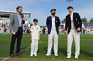 Virat Kohli of India and Joe Root of England at the toss ahead if the first day of the 4th SpecSavers International Test Match 2018 match between England and India at the Ageas Bowl, Southampton, United Kingdom on 30 August 2018.