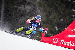 Bernadette Ernst (AUT) competes during Qualification Run of Women's Parallel Giant Slalom at FIS Snowboard World Cup Rogla 2016, on January 23, 2016 in Course Jasa, Rogla, Slovenia. Photo by Ziga Zupan / Sportida