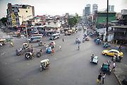 An overhead view of a Delpan Street from Jones street scene in Tondo Manila.