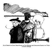 Julie Christie as Lara, Omar Sharif as Yuri Zhivago and Geraldine Chaplin as Tonya in Doctor Zhivago