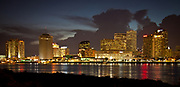 Copyright Kathy Anderson 2010<br /> This is the New Orleans skyline with the Mississippi River in the foreground.