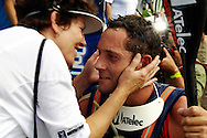 INANDA DAM - 19 January 2006 - Ant Stott receives a hug and kiss from his mother shortly after winning the second stage of the of the 57th edition of the annual Dusi Canoe Marathon between Pietermaritzburg and Durban. He went on to win the race..Picture: Giordano Stolley/Allied Picture Press