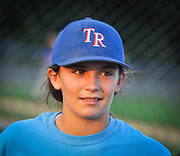 Kayla Roncin, 12, of the Toms River Little League baseball team is pictured during a team practice session at the stadium at 181 Mapletree Rd. in Toms River, NJ, on Wednesday, July 30, 2014. / ©Russ DeSantis Photography and Video
