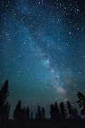 Night sky with the milky way in the high desert of Central Oregon. © Michael Durham.
