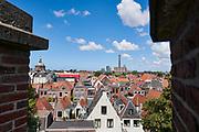 Uitzicht vanaf de Burcht van Leiden over de stad Leiden | View from the Castle of Leiden over the city of Leiden