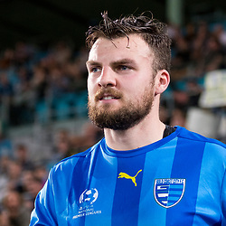 BRISBANE, AUSTRALIA - SEPTEMBER 20: Eoghan Murphy of Gold Coast City walks out during the Westfield FFA Cup Quarter Final match between Gold Coast City and South Melbourne on September 20, 2017 in Brisbane, Australia. (Photo by Gold Coast City FC / Patrick Kearney)