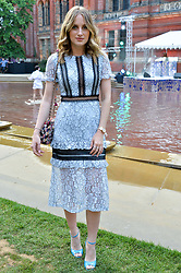 Rosie Fortescue at the V&A Summer Party 2017 held at the Victoria & Albert Museum, London England. 21 June 2017.