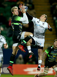 Northampton Saints' Harry Malinder and Ospreys' Hanno Dirksen during the European Rugby Champions Cup, Pool Two match at Franklin's Gardens, Northampton.