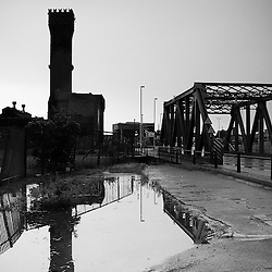 One of the classic Four Bridges in Birkenhead next to the central hydraulic tower which was built in 1863. Plans are to convert it into a bar like the Pump House at Albert Dock.