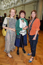 Left to right, RITA KONIG, LADY JANE ORMSBY GORE and BELINDA EADE at a lunch in aid of the charity African Solutions to African Problems (ASAP) held at the Royal Horticultural Hall, Vincent Square, London on 19th May 2016.
