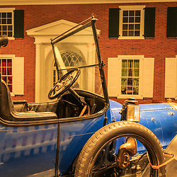 An antique auto on display at the Pennsylvania State Museum in Harrisburg.