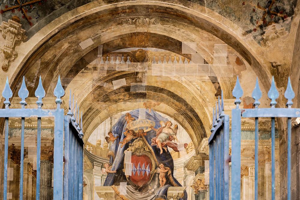 Fresco painting at the Opera Society, Sorrento, Italy.