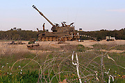 Israel, Gaza border, An Idf tank parked in a field base near the Gaza-Israeli eastern border. On Feb 28, 2008.