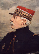 General Noel de Castelnau (1851-1944) French Army officer.  One of the leading French commanders during the First World War.  Castelnau in 1918.