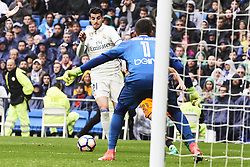 April 29, 2017 - Madrid, Spain - Cristiano Ronaldo Jr. in action during La Liga match between Real Madrid and Valencia CF at Santiago Bernabeu on April 29, 2017 in Madrid (Credit Image: © Jack Abuin via ZUMA Wire)